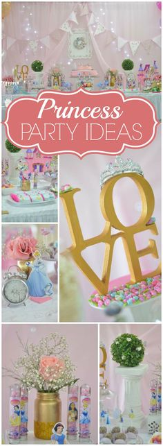 Here's a lovely pastel princess birthday party! See more party ideas at CatchMyParty.com!