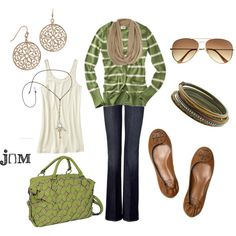 Casual Olive by jayneann1809 on Polyvore featuring Old Navy, 7 For All Mankind, Tory Burch, eBags, 1928, Miss Selfridge, H&M, ballet flats, boyfriend cardigans and 7 for all mankind