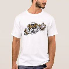 Bulldog Baseball Sports Mascot T-Shirt - diy cyo customize create your own personalize