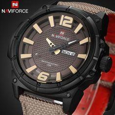 0634d0bfc63 Marca De Luxo Relógio Militar Analógico de Quartzo pulseira de strap