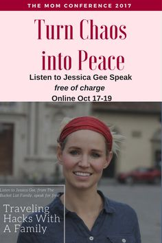 """""""Travelling Hacks with a Family"""" - Join me at the Mom Conference and you can hear Jessica Gee's Speech FREE of charge Online Interview, Bucket List Family, Conference, Travelling, Travel Tips, Join, Author, Hacks, Peace"""