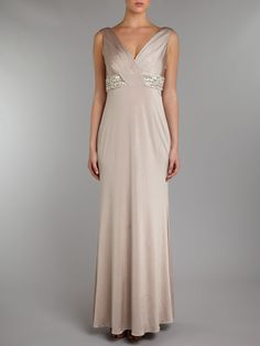 JS Collections Beaded V Neck Dress #houseoffraser http://ow.ly/ovHDm