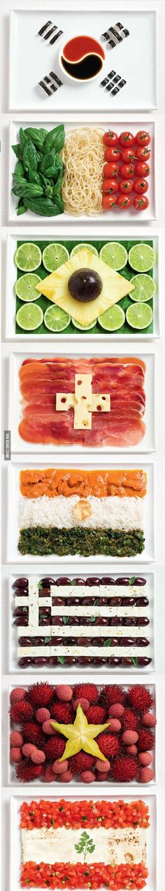 Food Flags, Great for a World Cup Party