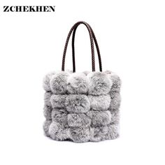 We love it and we know you also love it as well New Winter Real Rabbit Fur Bags Women's Designer Bucket Bag Ladies Women Leather Handbags Small Shoulder Bag just only $33.52 with free shipping worldwide  #womantophandlebags Plese click on picture to see our special price for you