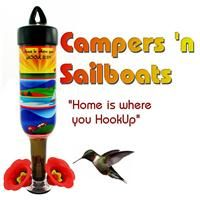 Campers 'n Sailboats Double Shot from Hummingbird Vineyard and Tipsy Birds - 375ml Freestyle Feeders