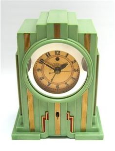 Art Deco Bakelite clock, Paul Frankl Design