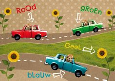 Kids card with retro toy cars   design: Hilde Reurink