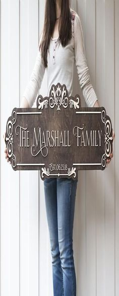 Custom-made Woods Signs concentrates on the style and manufacture of unique, special wood indications for your company or house. Sandblasting, hand ca... Custom Cutting Boards, Diy Cutting Board, Personalized Cutting Board, Personalized Signs, Last Name Signs, Family Name Signs, Name Plate Design, Name Board Design, Wood Monogram