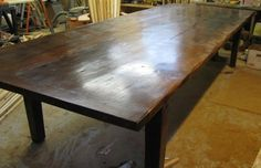 Eco friendly farm table from reclaimed barn by jeffbuildsfurniture, $1600.00