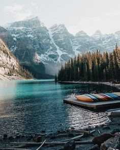 The splendor of creation as seen in Moraine Lake