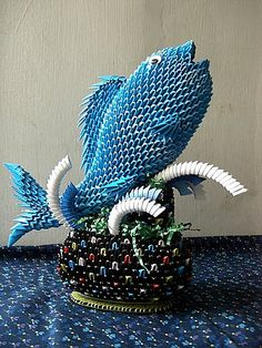 3D Origami - Fish in the Fountain