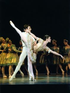 Aurelie Dupont and Manuel Legris in Sleeping Beauty act II c. 2004 Photo © Icare