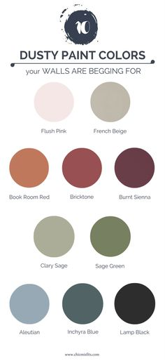 Want a classic yet edgy feel to your space? Dusty paint colors is where it's at. Revive your walls with a dusty paint color for a subtle or bold room overhaul!