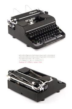 Funktionierende Schreibmaschine - Olympia SM 1 / Orbis - black - portable - Vintage Olympia Schreibmaschine