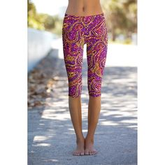 These eco-friendly printed performance high waisted cropped leggings are made from the highest quality, most opaque, soft stretch fabric with excellent shape recovery. The banded waist sits comfortabl