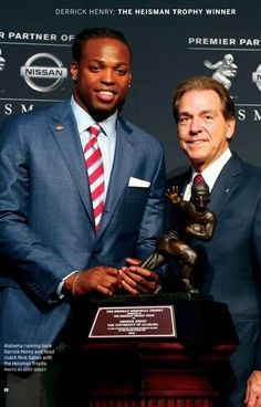 Derrick Henry wins the 2015 Heisman Trophy | from the Tuscaloosa Magazine…