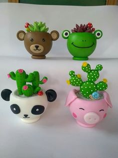 Polymers, Clay Charms, Biscuits, Planter Pots, Miniatures, Pasta, Decorative Vases, Decorated Jars, Potted Succulents