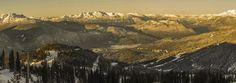 whistler winter sunset panorama by markbowenfineart Winter Sunset, Cheap Plane Tickets, Whistler, Photos Of The Week, Landscape Photography, Travel Photography, Earth, Urban, Fine Art