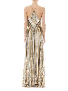 Galvan Lurex striped dress