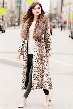Starlet Leopard Faux Fur Full-Length Coat - 3