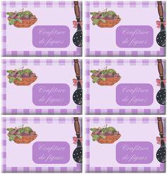 Étiquettes pour confiture de figues - Carterie Bilitis