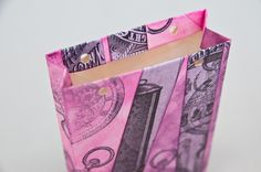 Návod na výrobu dárkové tašky z obálky. | Davona výtvarné návody