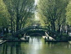 canal st martin (19ème près de la Villette) pour la balade et le magasin bio le long du canal