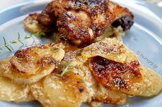 Ψητό Κοτόπουλο με Πατάτες Ωγκρατέν
