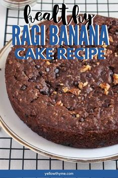 Eggless Ragi Cake with Finger Millet(Nachni or Ragi) Flour, oats, bananas and yogurt. - This recipe is vegetarian and can be made vegan with a few swaps.It's healthy,it's high on nutrients and super delicious! Custard Cookies, Easy Indian Recipes, Eggless Baking, Appetizer Recipes, Dinner Recipes, Appetizers, Gluten Free Cakes, Cake Recipes, Vegan Recipes