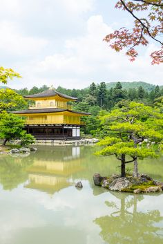 Kinkakuji (Golden Pavilion) in Kyoto, Japan. Visiting Kyoto soon? Check out our 3-day itinerary and see photos of the highlights this gorgeous city has to offer! #travel #japan #kyoto