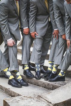 yellow and gray groomsmen ideas, Seaside/Mansion, Yellow and Grey wedding by 5th Avenue Weddings Events. Photos by Abby Caldwell Photography