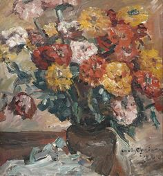 The Athenaeum - Zinnias (Zinnien), 1924 (Lovis Corinth - )