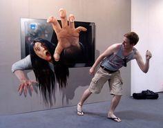 Exposição quadros 3D - Du Bist die Kunst no castelo Augustusburg na Alemanha.
