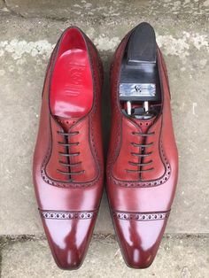 My Deco St James II in vintage Cherry Calf with red lining