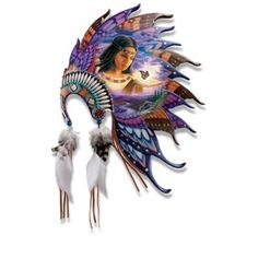 A FIRST! Limited-edition Native American-style headdress sculpture collection boasts butterfly wings instead of feathers, Robin Koni artwork and more.