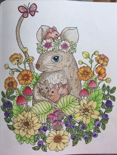 My first completed picture from Blomster Mandala colouring book by Maria Trolle