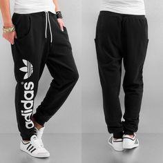 Black sweat adidas pants