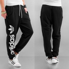 Black sweat adidas pants