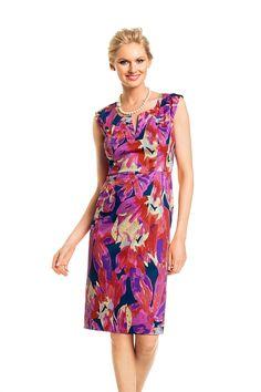 All - Grace Hill Floral Shift with Notch Neck - EziBuy Australia