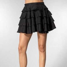 •Black Ruffle Skirt• Super sexy & soft !! Comes above mid thigh! ❤️ Prices are negotiable but please be considerate due to Poshmark fees are 20% ❤️ OFFER button is always the best ❤️ Bundles receive great discounts ❤️ SAME day shipping ❤️ No Trades, No holds , No PayPal  ❤️ Happy Poshing 👗👠👗👠👗👠 Have & Have Skirts Midi