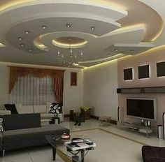 Ceiling Ideas Living - Home Decoration 17 Plaster Ceiling Design, House Ceiling Design, Ceiling Design Living Room, Bedroom False Ceiling Design, Ceiling Light Design, Ceiling Decor, Floor Design, Living Room Designs, Ceiling Ideas