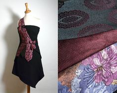 Bespoke Claret Blue Tie Dress   Made to Order from by ENIENAY