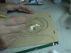 How to draw and paint a folkart angel