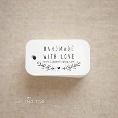 Handmade With Love Personalised Gift Tags