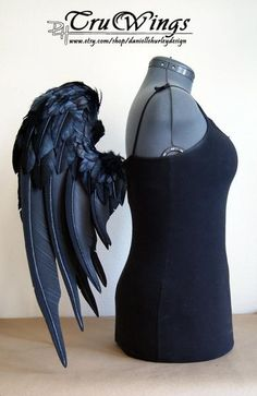 "I found 'Handmade Black Angel Wings - Sentinel - 24"" Etsy Gothic Lolita Bird Emo Visual Kei Cosplay Cosplay Steampunk Angel Fallen' on Wish, check it out!"