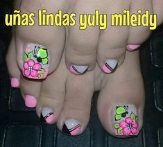 Pedicure Designs, Toe Nail Designs, Summer Toe Nails, Feet Care, Nail Manicure, Love Nails, Finger, Nail Art, Beauty