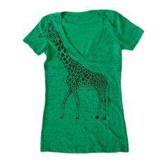 Giraffe Tee in Green.