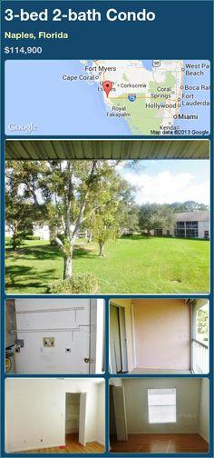 3-bed 2-bath Condo in Naples, Florida ►$114,900 #PropertyForSale #RealEstate #Florida http://florida-magic.com/properties/91078-condo-for-sale-in-naples-florida-with-3-bedroom-2-bathroom