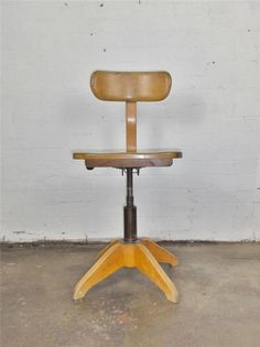 Rare Vintage Antique STOLL Giroflex Industrial Swivel Chair Evertaut Eames Tolix