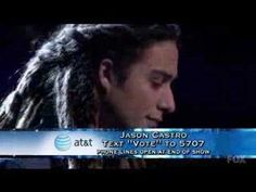 Jason Castro on American Idol singing ....  Hallelujah.  Nice.